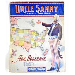 1904 UNCLE SAMMY MARCH TWO STEP SHEET MUSIC