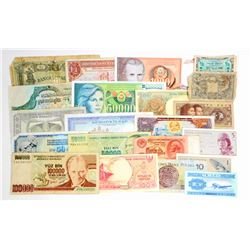 LOT OF 20 ASSORTED FOREIGN BILLS