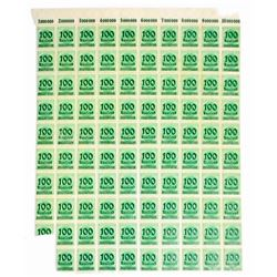 LOT OF 98 DEUTSCHES REICH SAUFEND STAMPS