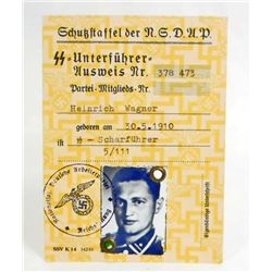 GERMAN NAZI WAFFEN SS AUSWEIS SOLDIER IDENTIFICATION CARD