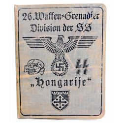 GERMAN NAZI WAFFEN SS GRENADIER DIVISION SOLDIER IDENTIFICATION BOOK