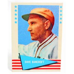 1961 FLEER DAVE BANCROFT #1 BASEBALL CARD