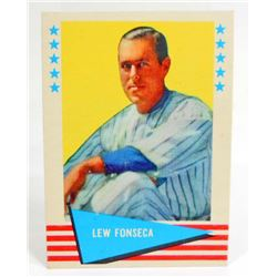 1961 FLEER LEW FONSECA #27 BASEBALL CARD