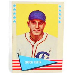 1961 FLEER CHUCK KLEIN #51 BASEBALL CARD