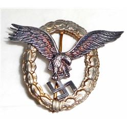 GERMAN NAZI LUFTWAFFE AIR FORCE PILOT BADGE