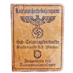 GERMAN NAZI WAFFEN SS BUCHENWALD SOLDIER IDENTIFICATION BOOKLET