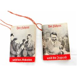LOT OF 2 GERMAN NAZI DICTATOR ADOLF HITLER PROPAGANDA BOOKLETS