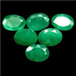 LOT OF 9.23 CTS OF GREEN ZAMBIAN EMERALDS