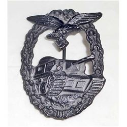 GERMAN NAZI LUFTWAFFE TANK ASSAULT BADGE