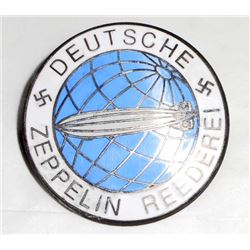 GERMAN NAZI DEUTSCHE ZEPPELIN REEDERIE AIR SHIP BADGE