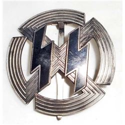 GERMAN NAZI SILVER WAFFEN SS RUNIC BADGE