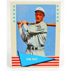 1961 FLEER SAM RICE #70 BASEBALL CARD