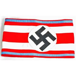 GERMAN NAZI POLITICAL NSDAP ORTS SWASTIKA ARM BAND
