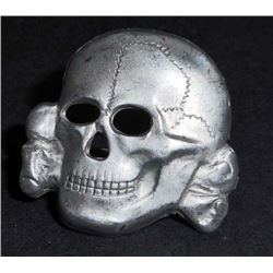 GERMAN NAZI WAFFEN SS OFFICERS VISOR CAP SKULL