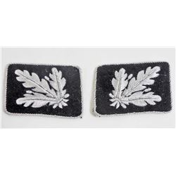 PAIR OF GERMAN NAZI WAFFEN SS GENERAL COLLAR TABS