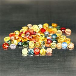 LOT OF 10.06 CTS OF FANCY COLOR AFRICAN SAPPHIRES