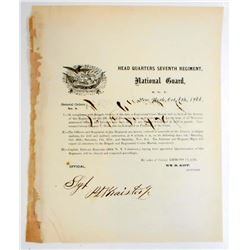 1866 SEVENTH REGIMENT GENERAL ORDERS NO.8