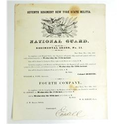 1857 SEVENTH REGIMENTAL ORDERS NO.11