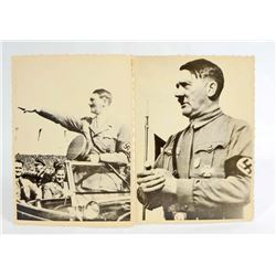 LOT OF 2 GERMAN NAZI DICTATOR ADOLF HITLER PHOTOGRAPHS