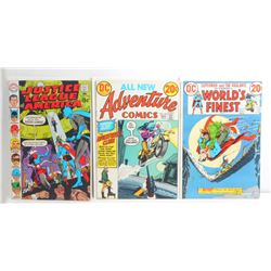 LOT OF 3 VINTAGE COMIC BOOKS - JUSTICE LEAGUE, ETC