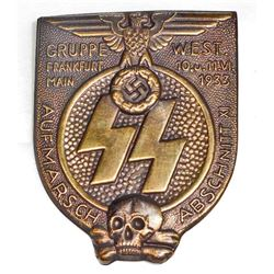 GERMAN NAZI WAFFEN SS FRANKFURT TINNIE BADGE