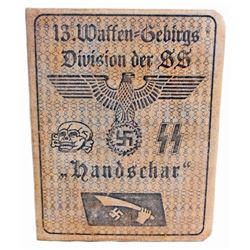 GERMAN NAZI WAFFEN SS 13TH GEBIRGS DIVISION SOLDIER IDENTIFICATION BOOK