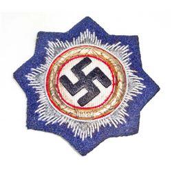 GERMAN NAZI ARMY SS PANZER GOLD GERMAN CROSS IN CLOTH