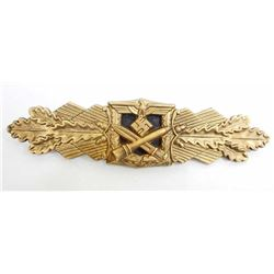 GERMAN NAZI ARMY CLOSE COMBAT CLASP IN GOLD
