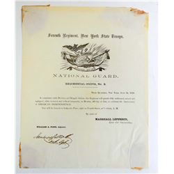 1859 SEVENTH REGIMENT ORDERS NO.8