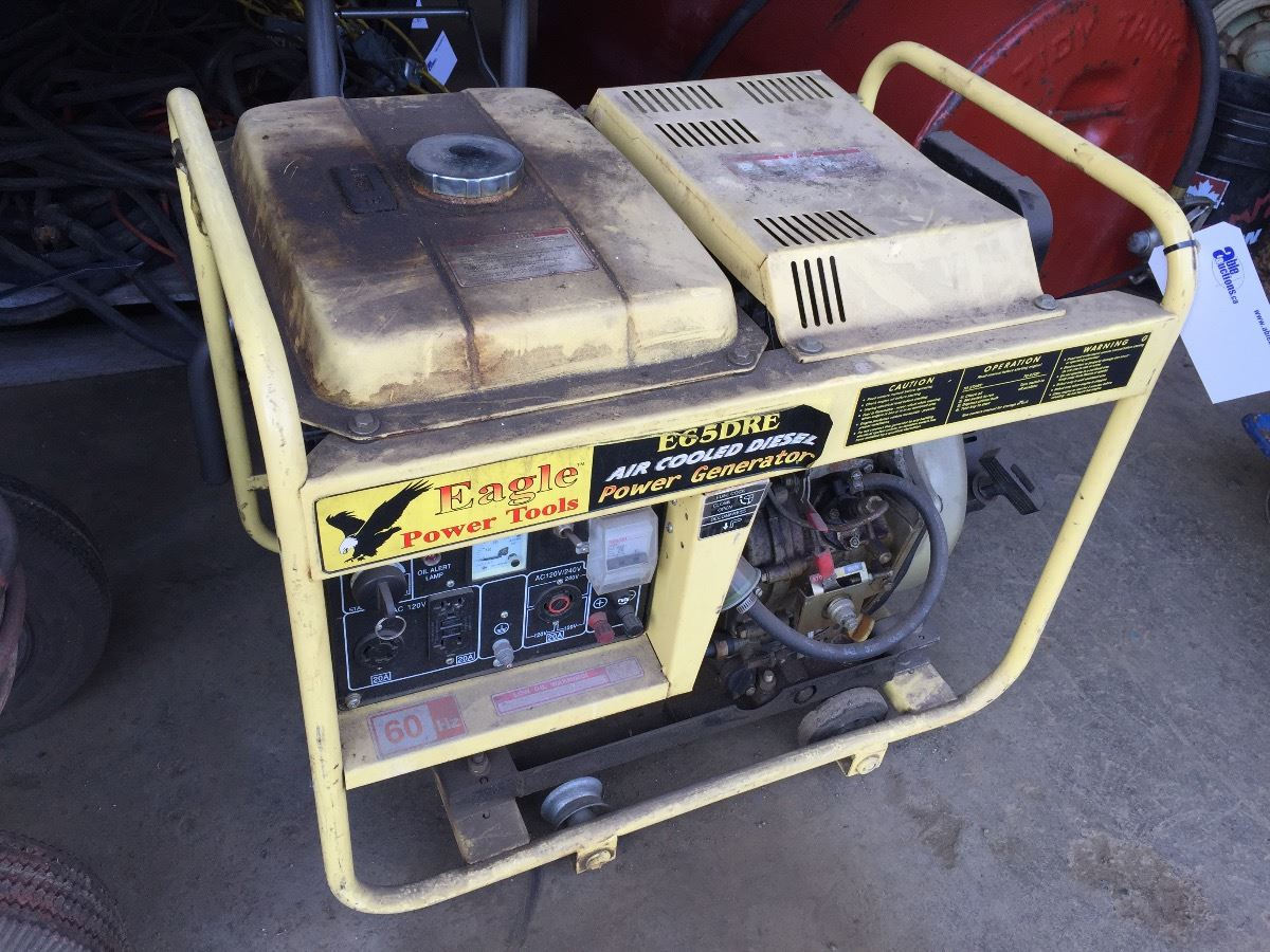 EAGLE E65DRE AIR COOLED DIESEL POWER GENERATOR