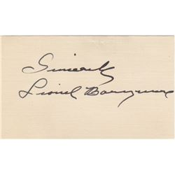 Lionel Barrymore Signature Card