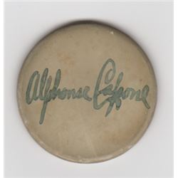 Al Capone Signed Vintage Clay Poker Chip