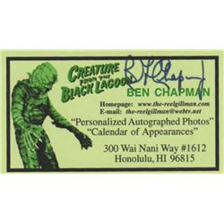 The Creature from the Black Lagoon Ben Chapman Signed Business Card