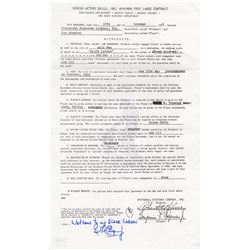 The Creature from the Black Lagoon Ben Chapman Signed Copy of Universal Pictures Contract