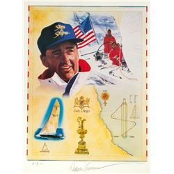 "Dennis Conner Signed Limited Edition ""America's Cup"" Lithograph"