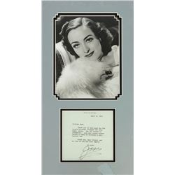 Joan Crawford Signed Letter April 8, 1975