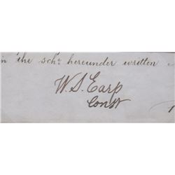 Wyatt Earp Cut Signature