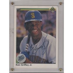 Ken Griffey Jr. 10th Anniversary Oversized Upper Deck Signed Card