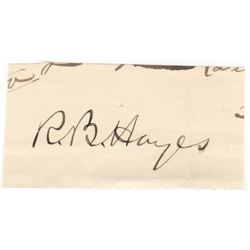 Rutherford B. Hayes Signature Card