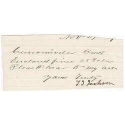 "Thomas ""Stonewall"" Jackson Cut Signature"