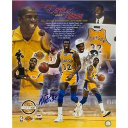 Los Angeles Lakers Legend Magic Johnson Signed Gallery-size Photo
