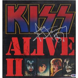 Gene Simmons & Ace Freely Signed KISS Record Album Cover