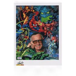 Stan Lee Oversize Signed Photo