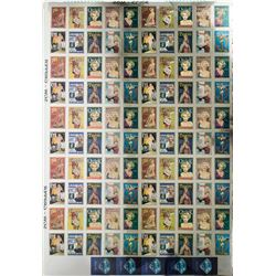 Marilyn Monroe Uncut Platinum 100 Trading Card Sheet