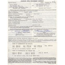 Dolly Parton Signed AFTRA Engagement Contract