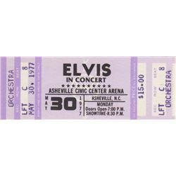 Original Elvis Presley 1977 Concert Ticket
