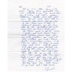 Serial Killer The Night Stalker Richard Ramirez Handwritten Signed Letter from Prison