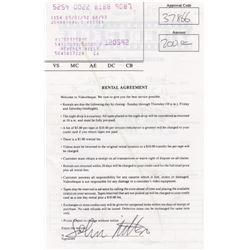 John Ritter Signed Video Rental Agreement