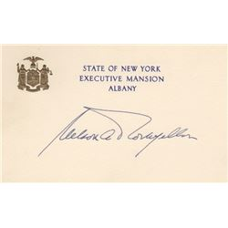 Nelson Rockefeller Signature Card as Governor of New York