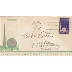 Babe Ruth Signed 1939 New York World's Fair First Day Cover